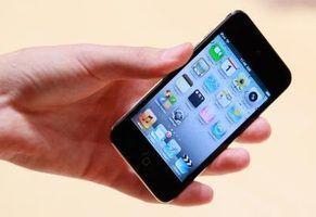Os bloqueios do iPod touch depois de um determinado período de inatividade.