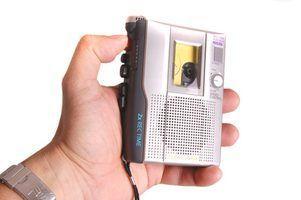 Como usar um microfone embutido para gravar áudio