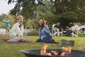 Como usar uma fogueira ao ar livre