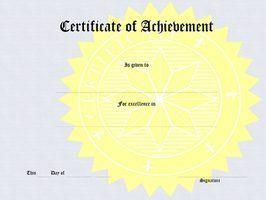 Como palavra certificados de premiação bolsa