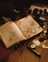 Mantenha feitiços em um caderno para referência futura.