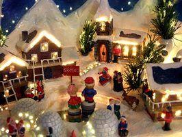 Idéias de como decorar com aldeias natal