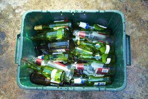 Idéias para bancadas de cozinha de vidro reciclado