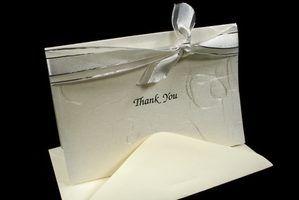 Ideias para escrever notas de agradecimento aos clientes