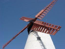 Ideias para pintar um moinho de vento do jardim do metal