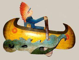 Artesanato canoa indianos