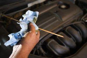 Indicações de muito óleo em um carro