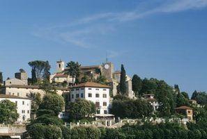 Cores da pintura italiana villa exterior