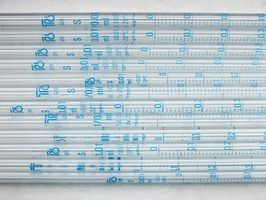 Instrumentos de laboratório para medir