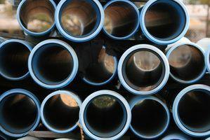 tubo de PVC pode ser cortado de várias maneiras.