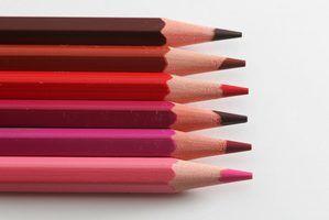 Lista de tons de cores diferentes