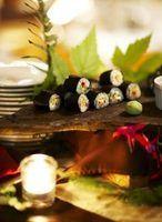 Lista de diferentes rolos de sushi