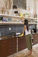 Lista de trabalhos para fazer ao limpar casas