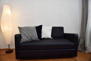Vivendo idéias sala de cortina para um sofá preto