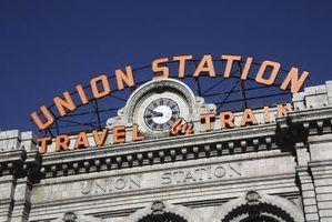 Union Station, em Denver é uma parada em vários itinerários turístico-por-trem.