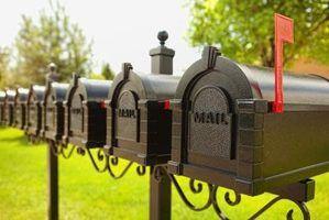 Caixas de correio que se abrem em ambas as extremidades