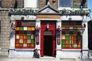Idéias de menu para um pub irlandês