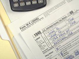 Os requisitos mínimos de depósito de renda para impostos