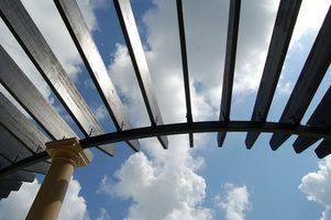 Opções para telhados pérgola transparentes