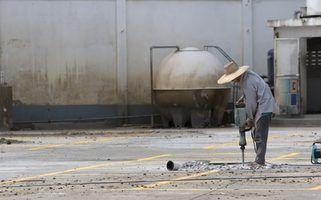 Regras de segurança da osha para jackhammering