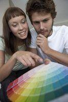 Esquemas de cores da casa fora na década de 1960