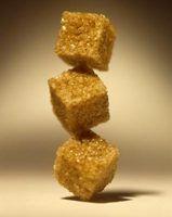 Embaladas substitutos do açúcar marrom