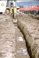 Partes de uma construção da fundação