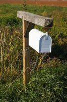 Uma caixa de correio pode ter várias partes.