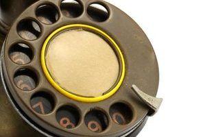Partes de um telefone giratório