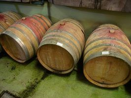 Partes de um barril de vinho
