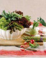 As plantas utilizadas nas saladas