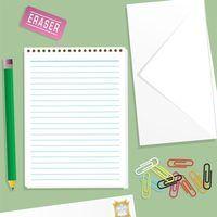 Princípios de cartas de negócios da escrita