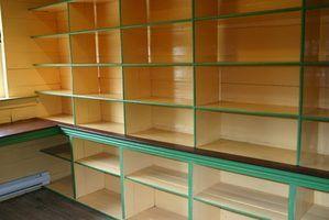 Diferentes modelos de prateleiras acomodar os requisitos de peso para livros, registros em papel e em garagens.