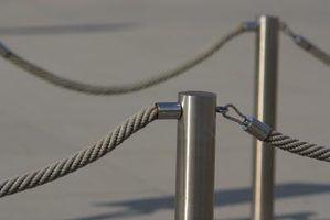 grades corda decorativos trabalhar bem com postes metálicos.