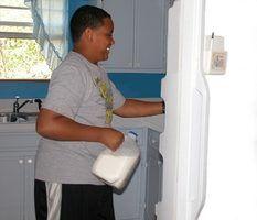 Lista de exemplos de itens mantidos em um refrigerador e freezer