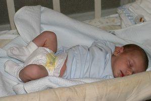 Dormir hábitos de um bebê de 8 semanas de idade