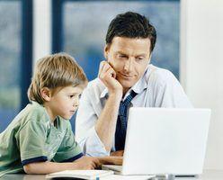 Levar as crianças para trabalhar atividades do dia