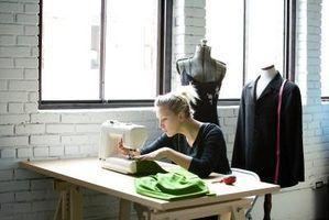A altura média de uma mesa de costura