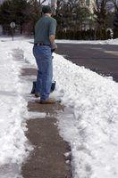 A melhor caminhada atrás snowblowers