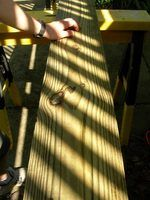 Os efeitos de decoração de pisos de madeira escura e luz