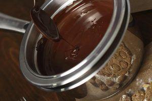 A diferença entre fudge de chocolate &