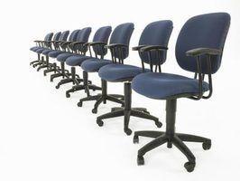 As dimensões das cadeiras de escritório