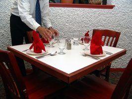 Os deveres de uma mudança na carga em um restaurante