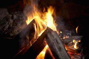 Os efeitos do fumo inalação de uma fogueira