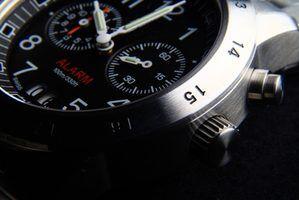 Os nomes de peças de relógio dos homens