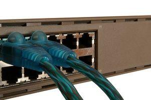 Os dispositivos de rede usados na conexão com uma lan
