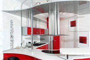 Cores que vão com uma cozinha vermelha
