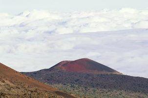 Os tipos de erupções que vulcões têm