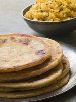 Os tipos de pães lisos indiano