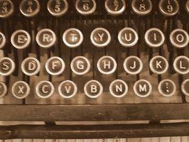 Os tipos de máquinas de escrever